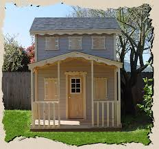 Backyard Clubhouse Plans by Outdoor Playhouse Plans