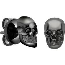 skull stud earrings skull stud earrings polyvore