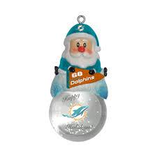 miami dolphins ornament santa snow globe globe miami and ornament