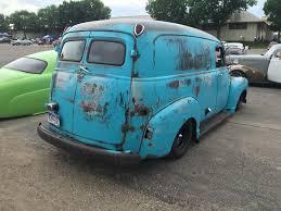 custom truck tail lights custom built advanced design chevrolet panel truck in a blue patina