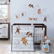Curly Tails Crib Bedding Mod Monkey Lambs