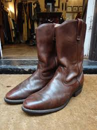 brown leather motorcycle boots vintage brown leather red wing 8161 pecos boots us 11 motorcycle
