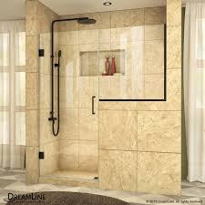 unidoor plus 47 to 48 1 2 hinged shower door 24 in buttress panel