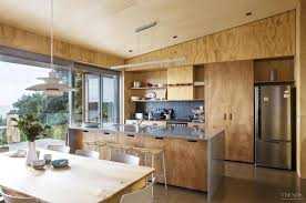 Poplar Kitchen Cabinets by Contrasting Plywood On Walls Cabinets And Ceilings In New Holiday
