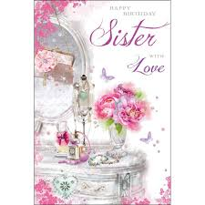 greeting cards for sister birthday christmas party entertainment