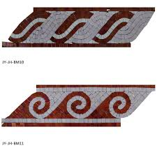popular glass mosaic decorative wallpaper border handmade