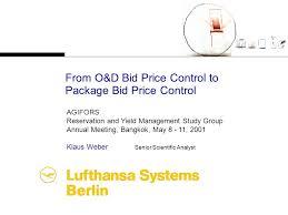 bid price from o d bid price to package bid price ppt