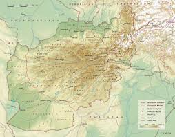 Physical Map Of Asia by Large Detailed Physical Map Of Afghanistan With Roads Highways