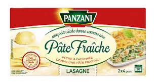 comment cuisiner les pates fraiches lasagne qualité pâte fraiche panzani