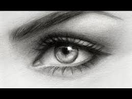 drawing an eye with only one pencil youtube