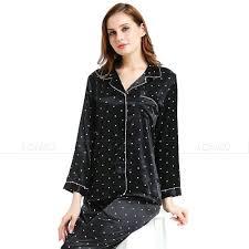 silk satin pajamas set sleepwear loungewear great gifts