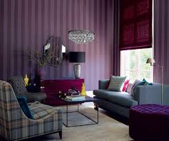purple and grey family room house design ideas