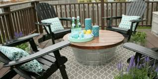 Patio Side Table Metal Outdoor Patio Coffee Table Furniture Patio Furniture