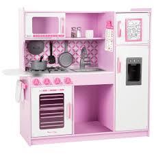 melissa u0026 doug chef u0027s wooden modern play kitchen cupcake play