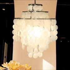 Mother Of Pearl Pendant Light by Capiz Chandelier Ebay