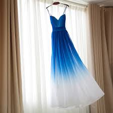 ombre dress royal blue omre white bridesmaid dresses ombre dress for