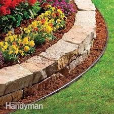 Flower Bed Border Ideas 10 Garden Edging Ideas With Bricks And Rocks Landscaping Rock
