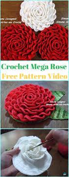 crochet 3d flowers free patterns tutorials