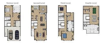 row home floor plan the row homes at phipps a luxury buckhead community