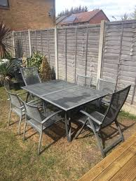 Mesh Patio Table by Grey Mesh Extendable Garden Table And Chairs Set In Romford