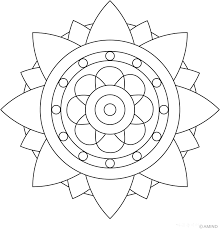 awesome collection printable easy mandala coloring pages