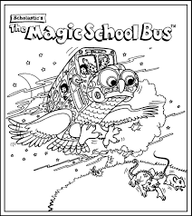 magic bus coloring pages free printable bus coloring