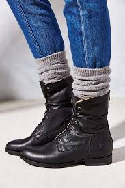 lace up moto boots frye jamie artisan lace up boot in black lyst