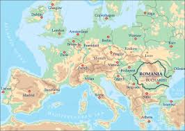 map of eurup romania in europe map travel and tourism information harta europei