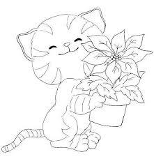 coloriage gratuit a imprimer chaton