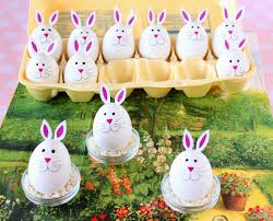 super charming hard boiled bunny eggs for easter