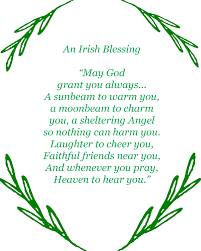 St Patrick S Day Home Decorations Irish Blessing Printable