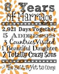 eighth anniversary gift awesome anniversary gifts by year the 10 years wedding