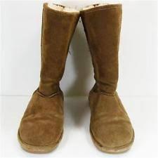womens paw boots size 11 bearpaw meadow womens size 11 brown lambskin leather winter