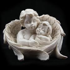 and cherub child in wings ornament