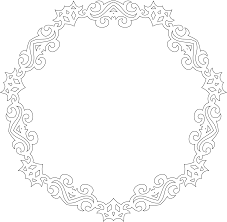 Decorative Frame Png Clipart Decorative Line Art Frame 4