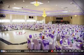 salle de mariage 95 présentation de décoration couleur violet de la salle elysée mariage
