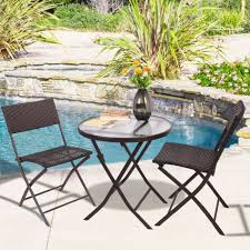Mainstays Searcy Lane 6 Piece Padded Folding Patio Dining Set - folding patio table for 6 patio decoration