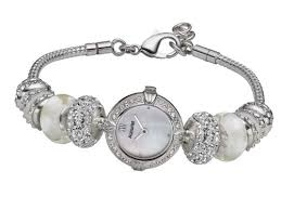 charm bracelet watches images Accurist charmed ladies 39 white delight charm watch lb1448x jpg