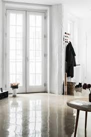 glossy concrete floors in small copenhagen apartment cococozy