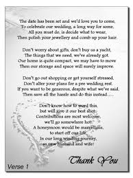 wedding gift list poems fascinating wedding invite poems asking for money for honeymoon 56