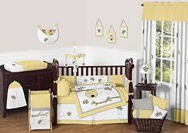Yellow And Gray Crib Bedding Set Sweet Jojo Designs Bedding Sets Honey Bumble Bee Hive Yellow
