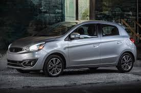 mitsubishi hatchback mitsubishi mirage gets new standard 7 0 inch display for 2018