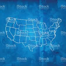 Usa Map Vector by Usa Map Scribbled White On Blueprint Grid Grunge Background Stock