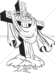 cross with crown of thorns production ready artwork for t shirt