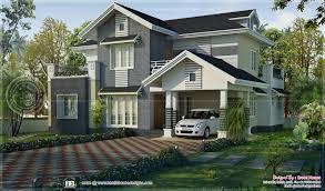 beautiful sober color western look villa in kerala kerala home
