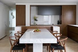 MarblediningtableKitchenContemporarywithbeigestonefloor - Corian kitchen table