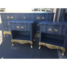 Blue Changing Table Sle Blue And Gold 9 Drawer Provincial Dresser