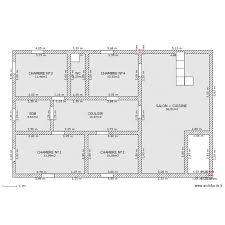 plan villa plain pied 4 chambres plan maison 120m2 4 chambres