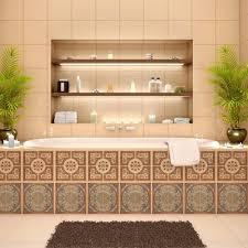Kitchen Backsplash Stickers by Tile Decals B Q B Q Tile Decals Bathroom Best 20 Self