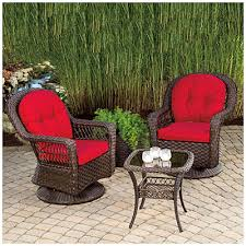 wilson fisher charleston resin wicker 3 piece swivel glider set